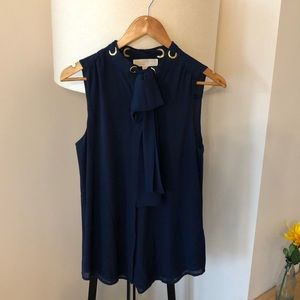Michael Kore sleeveless navy blouse